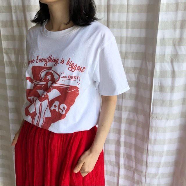 TOPANGA Lady's TEXASカウガール Tシャツ