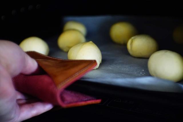 キッチンに彩を - 革の2way鍋つかみ