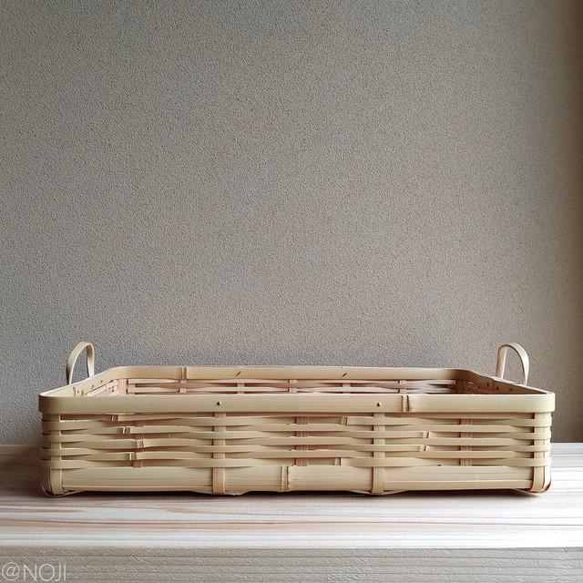 kaku4号(トレイ)ー角物ー(竹の持ち手あり、みがきなし)