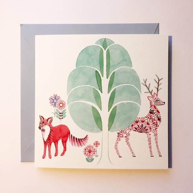 Greeting Card - Fox and Stag