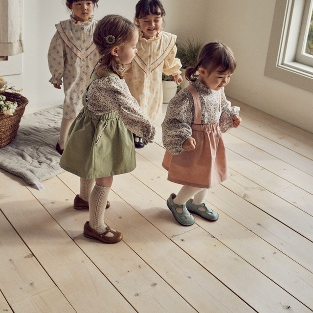 【新作予約】【pourenfant】Rebecca skirt コットンスカート パステル 春 ナチュラルカラー 韓国子供服