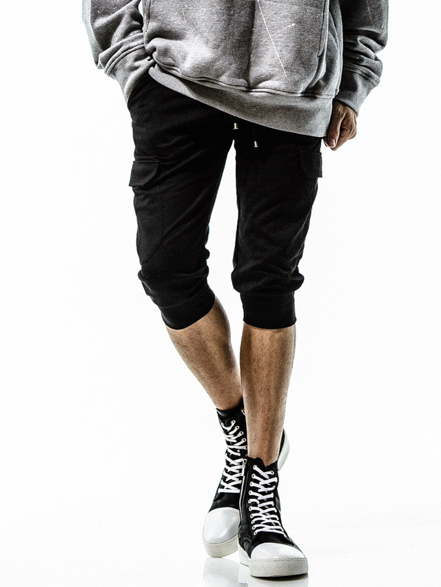 RESOUND CLOTHING (リサウンドクロージング) CARGO CROPPED PT / BLACK RC15-HP-012-1