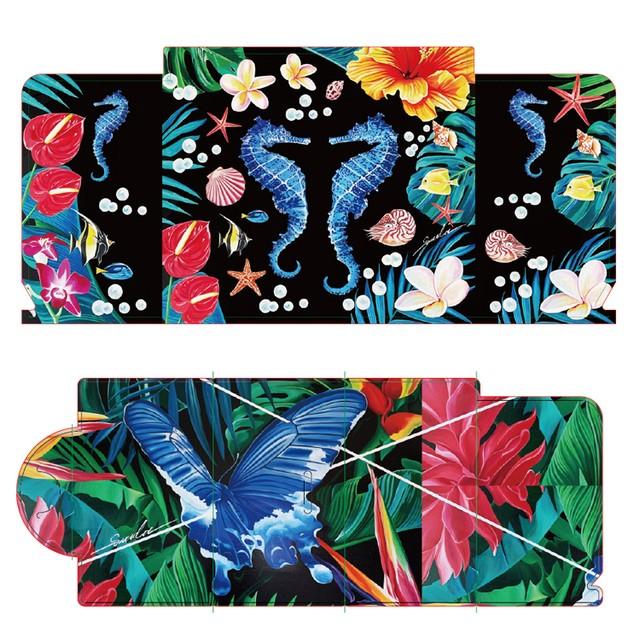 マスクケース(2枚セット):左右田薫「Seahorse」「天国の青い蝶」