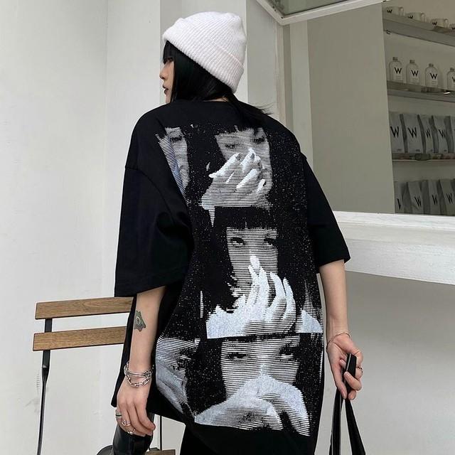 【トップス】男女兼用半袖暗黒系ストリート系プリントファッションTシャツ44639273