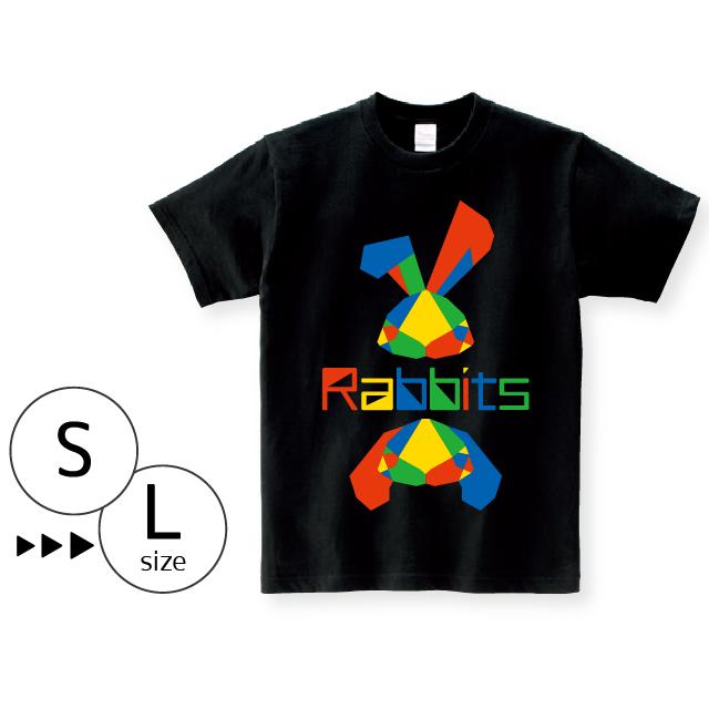 Tシャツ:パキパキラビッツ〈ブラック〉