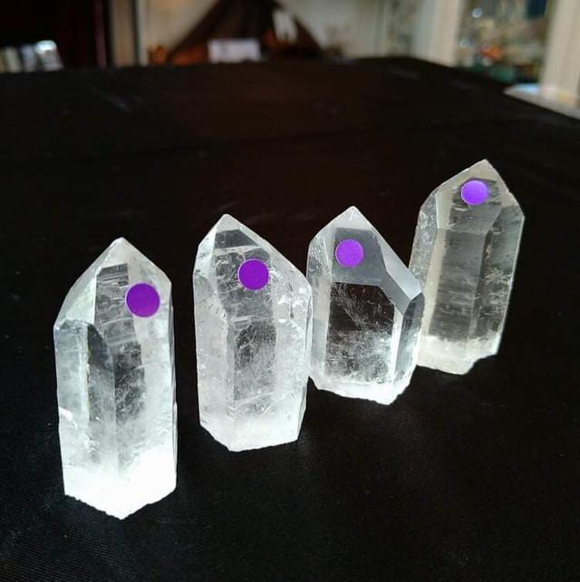 水晶ポイント4本セット(パープル)