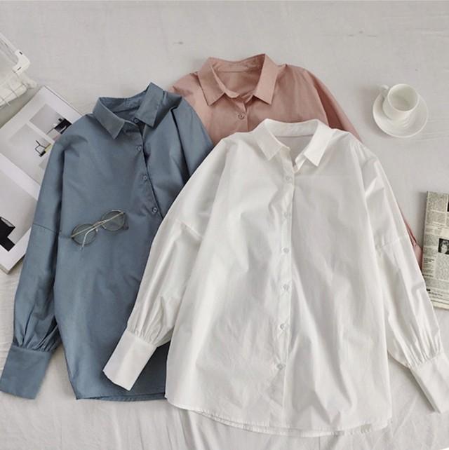 きれい色シンプルオーバーサイズシャツ