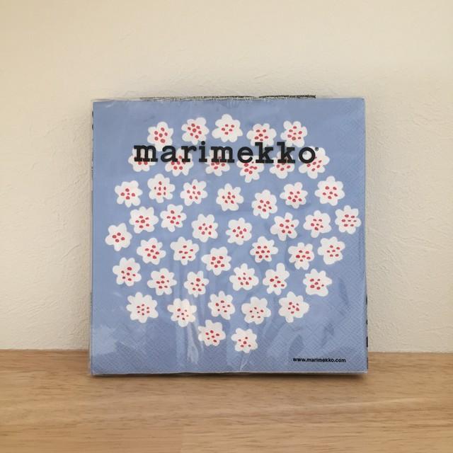 【marimekko】ランチサイズ ペーパーナプキン PUKETTI パステルブルー