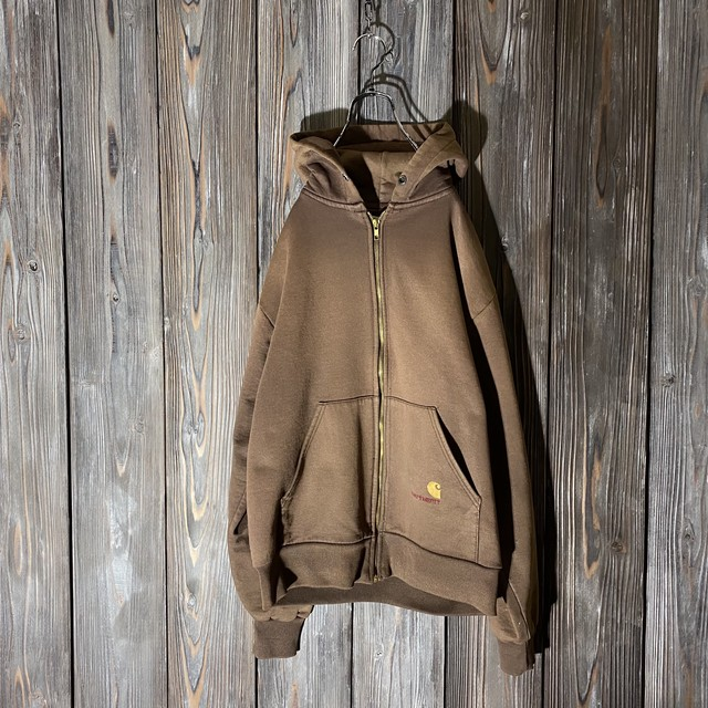 [Carhartt]brown zip-up hoodie