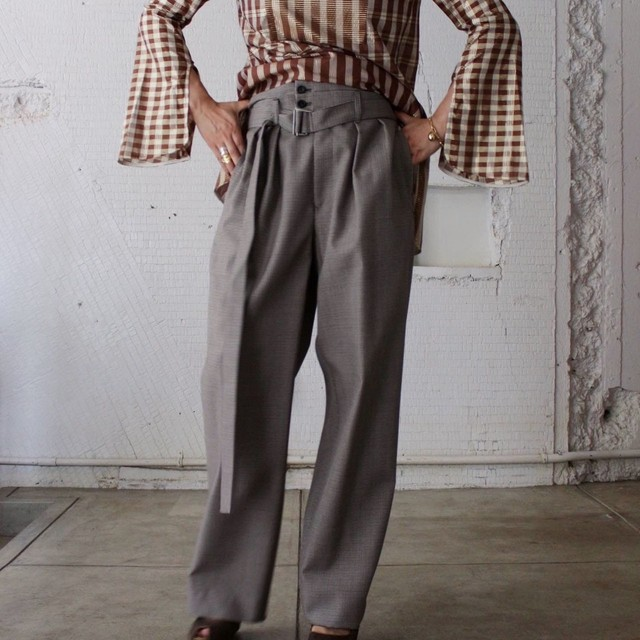 【DOMENICO+SAVIO】HIGHT WAIST WIDE PANTS