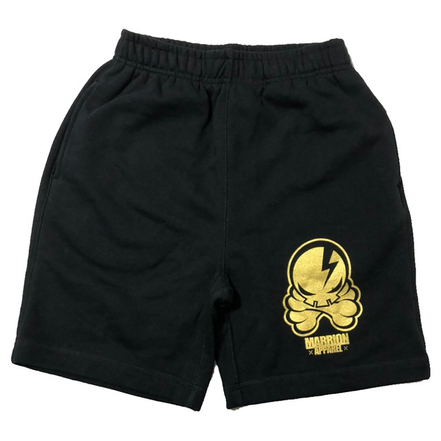 OCTOPUS SKULL SHORTS (Black×Gold)