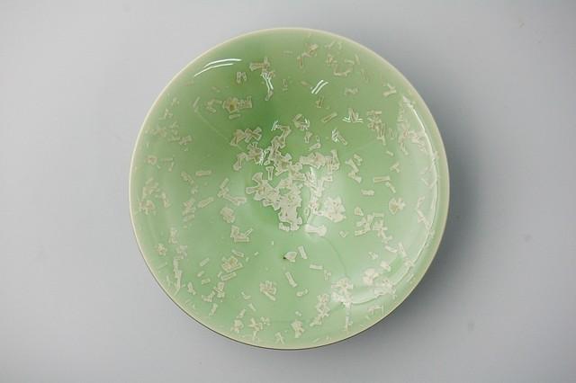 ◆受注生産◆結晶釉青雪華平鉢 安藤寛泰作