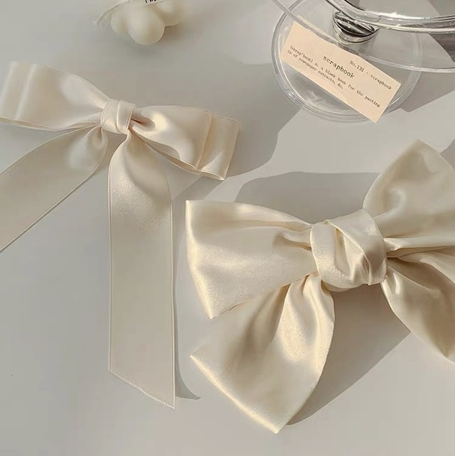white satin ribbon 2size set