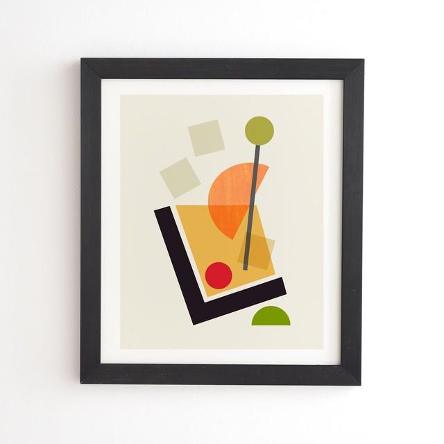 フレーム入りアートプリント MY COCKTAIL III OLD FASHIONED  BY TREVOR【受注生産品: 7月中旬入荷分 オーダー受付中】