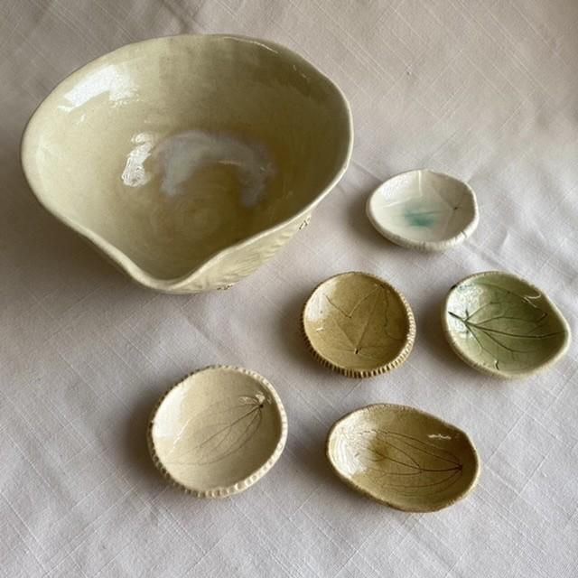 【outlet商品】葉っぱの箸置き & 片口鉢セット