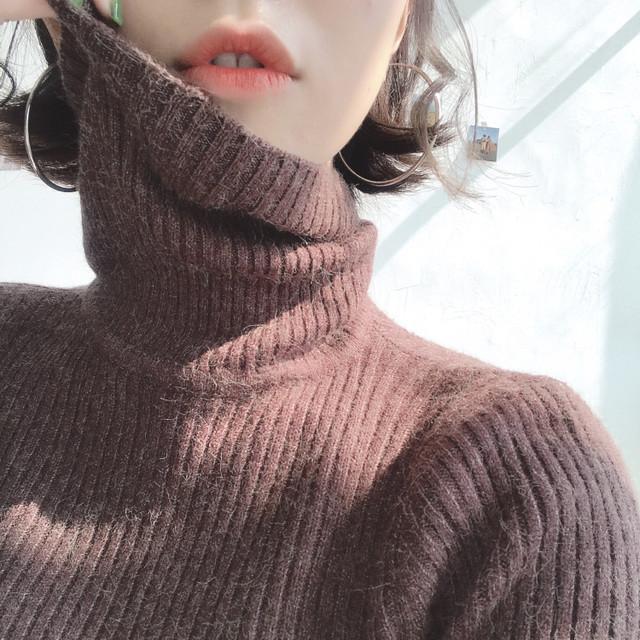 春服 ハイネックニット インナー セーター 8色展開 RPTOP9011604