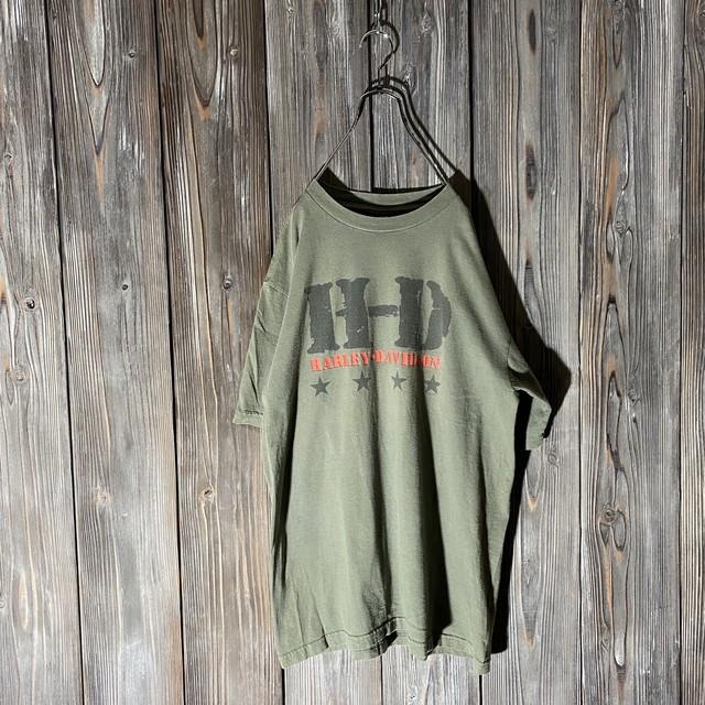 [HARLEY DAVIDSON]H-D khaki T shirt