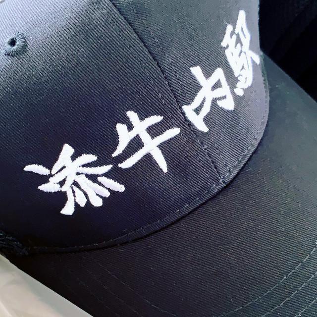 【送料無料】JR旧深名線 添牛内駅プレミアム帽子(刺繍version)