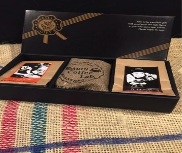 珈琲職人ブレンドコーヒー 詰め合わせギフト(200g×2パック&麻袋入ドリップパック4パック)