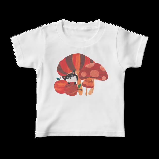 前面プリントイラストキッズTシャツ 『どくきのこはどれ』