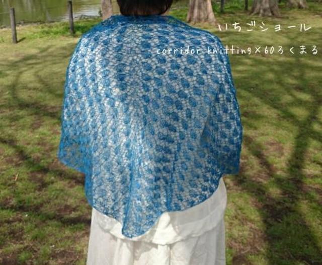 (糸のみ)ichigo shawl(いちごショール)の編み物キット byコリドーニッティング