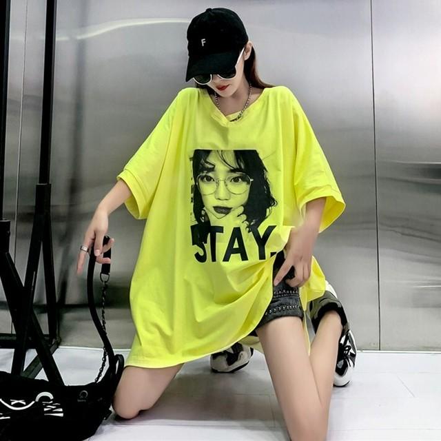 【トップス】ファッション図柄プリントシンプル通勤通学半袖Tシャツ42112096