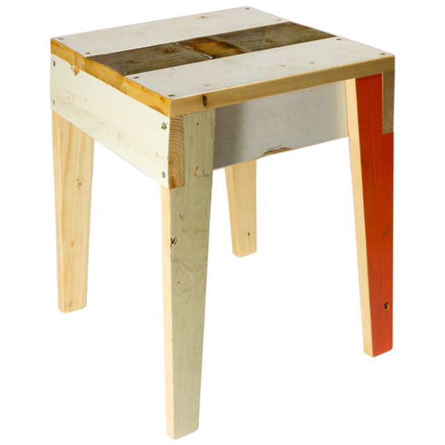 PIET HEIN EEK Scrapwood Stool High Gloss