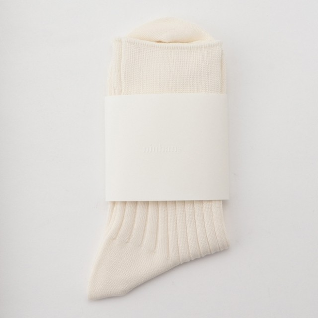 niuhans / Egyptian Cotton Socks[OFF WHITE]