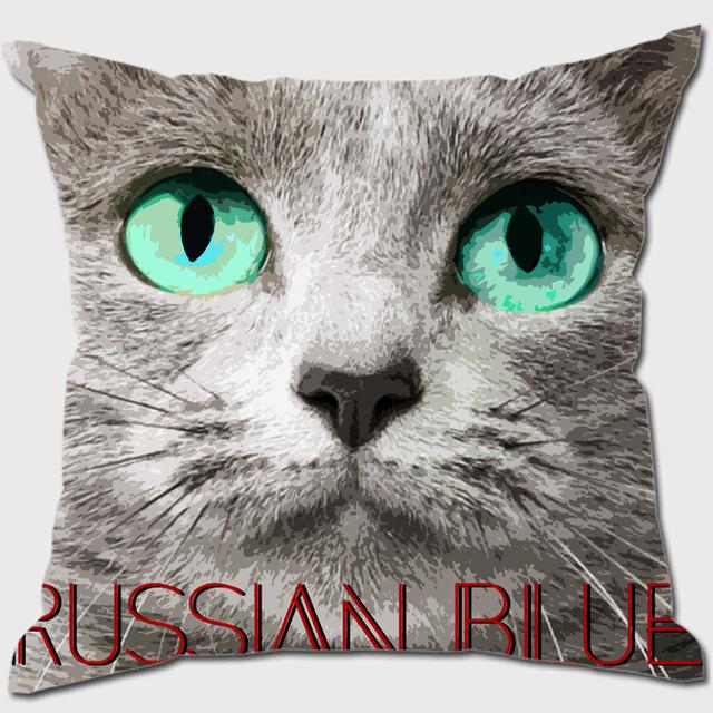 ロシアンブルー 【IMPACT -color- 猫 クッション】