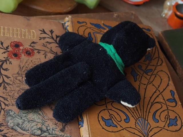 イギリスアンティーク 黒ネコ