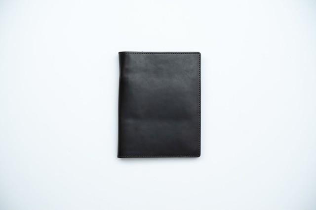 【トバログコラボ】レザーパスポートケース - ブラック