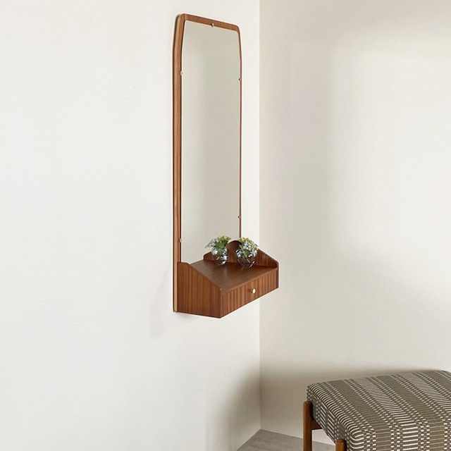 Wall mirror with drawer / MI006