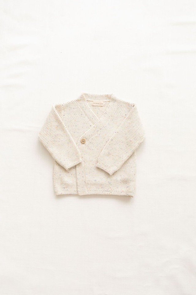 FIN&VINCE/knitted wrap cardigan - confetti