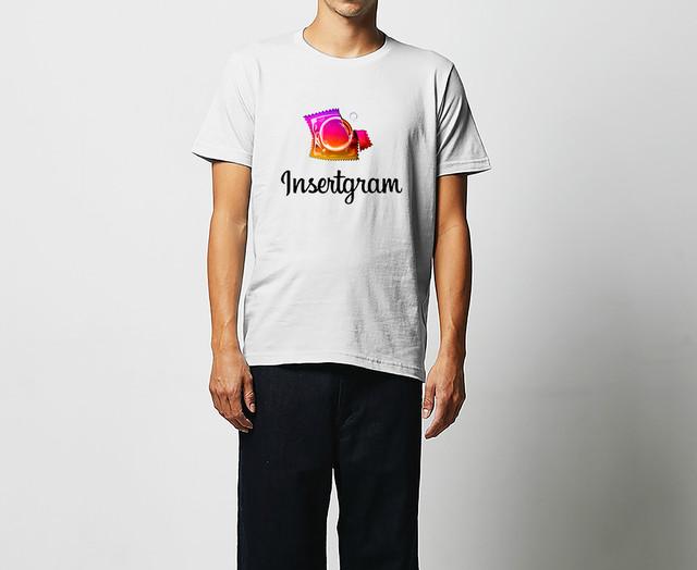輝く女性専用風俗ÉTOILE × OMECO  insertgram インサートグラム コンドーム スキン Tシャツ【ご注文より2週間前後でお届け】