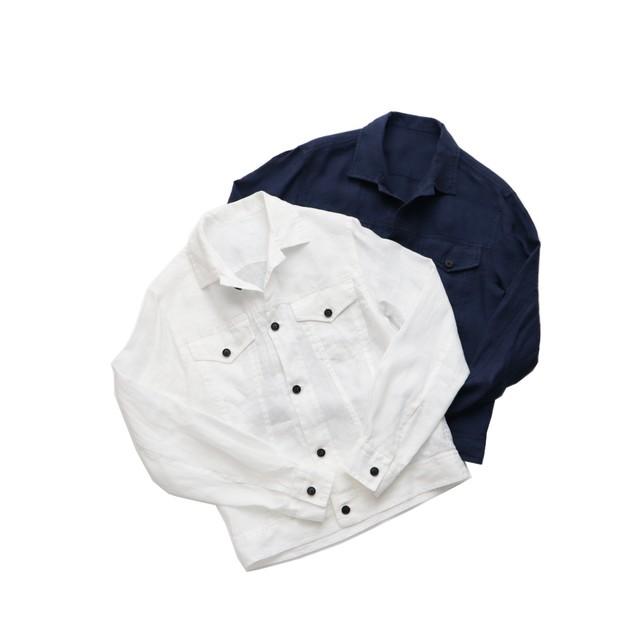 BAGUTTA / バグッタ リネン 3rdトラッカーシャツジャケット