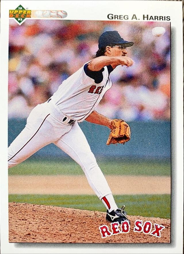 MLBカード 92UPPERDECK Greg A Harris #658 RED SOX