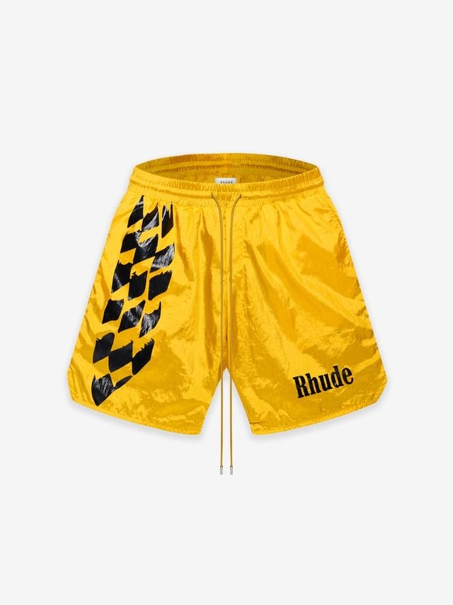RHUDE WARM UP SHORT YELLOW