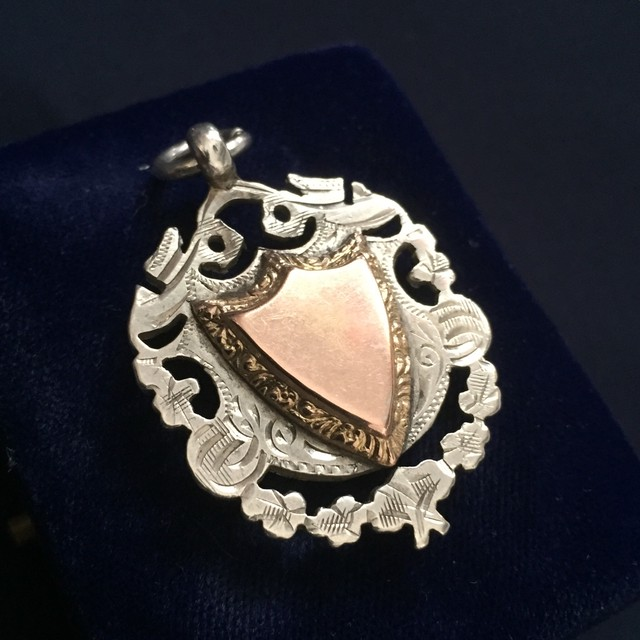Sterling Silver/Rose gold pocket watch fob