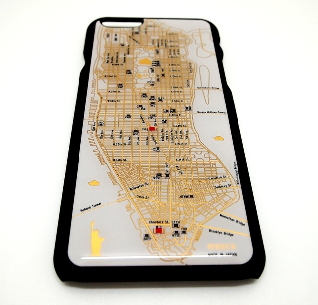 NY回路地図 iPhone6/6s  ケース 白【LEDは光りません】【東京回路線図A5クリアファイルをプレゼント】