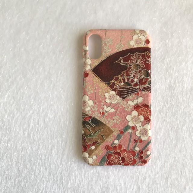 【KIMONO】一点物!梅扇・アンティーク着物のiPhoneX/XSケース