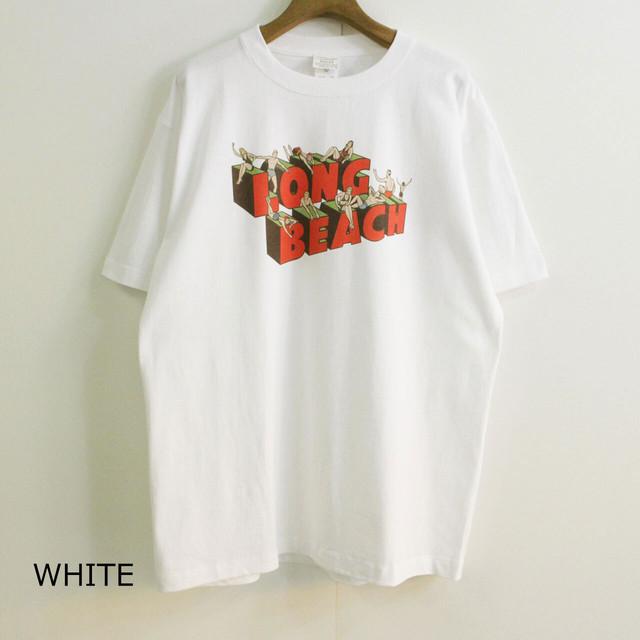 "KHA:KI カーキ MIL-20SCS210 VINTAGE  TEE ヴィンテージ風Tシャツ ""LONG BEACH & FRIENDS"""