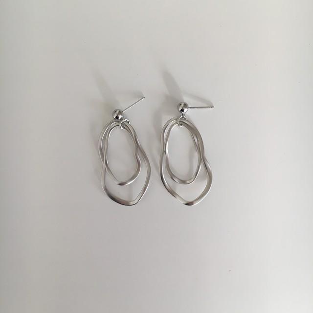 [再入荷]double short pierce/earring