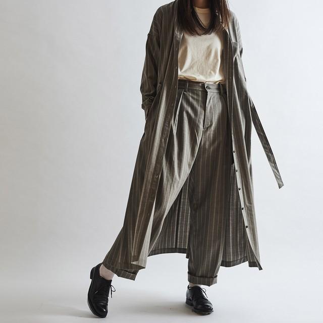 Winter Stripe Long Shirt Dress