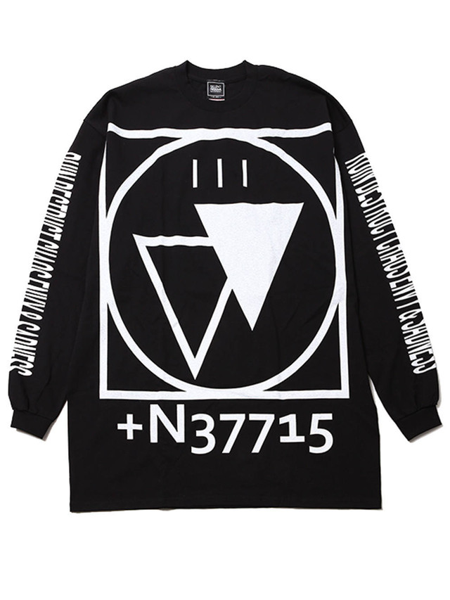 【SILLENT FROM ME】 CRYPTIC -Outsize Long Sleeve-BLACK