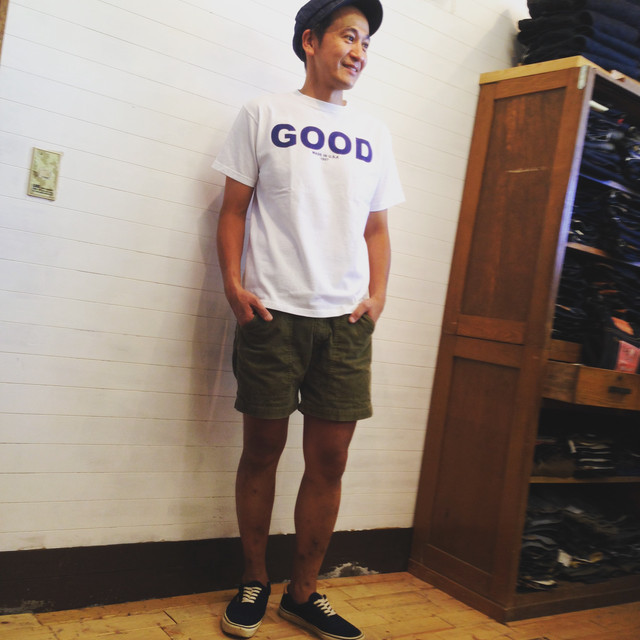 "Good On(グッドオン)S/S ""GOOD ON"" LOGO T/""GOOD ON"" ロゴTシャツ  WHITE/NAVY"
