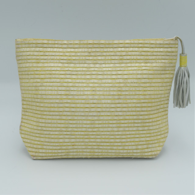 "Atelier Nihal / FLAT BAG ""Size M / Pearly white×Yellow"""