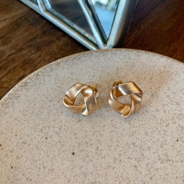 triangle pierce / pink gold