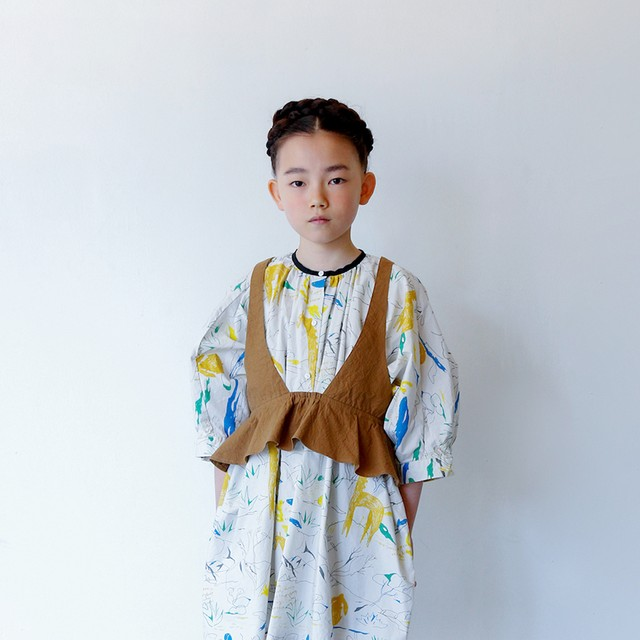 folk made flare vest (beige)  S・Mサイズ F20SS-016※メール便可