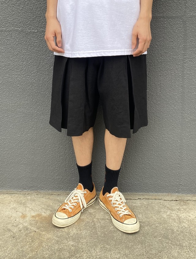 TODAY edition / LINEN EASY SHORTS(BLACK)