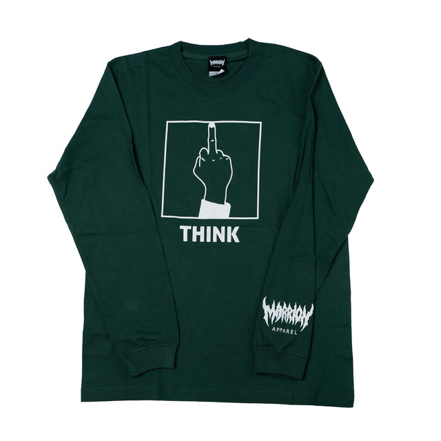 THINK Long Sleeve (Ivy Green×White)